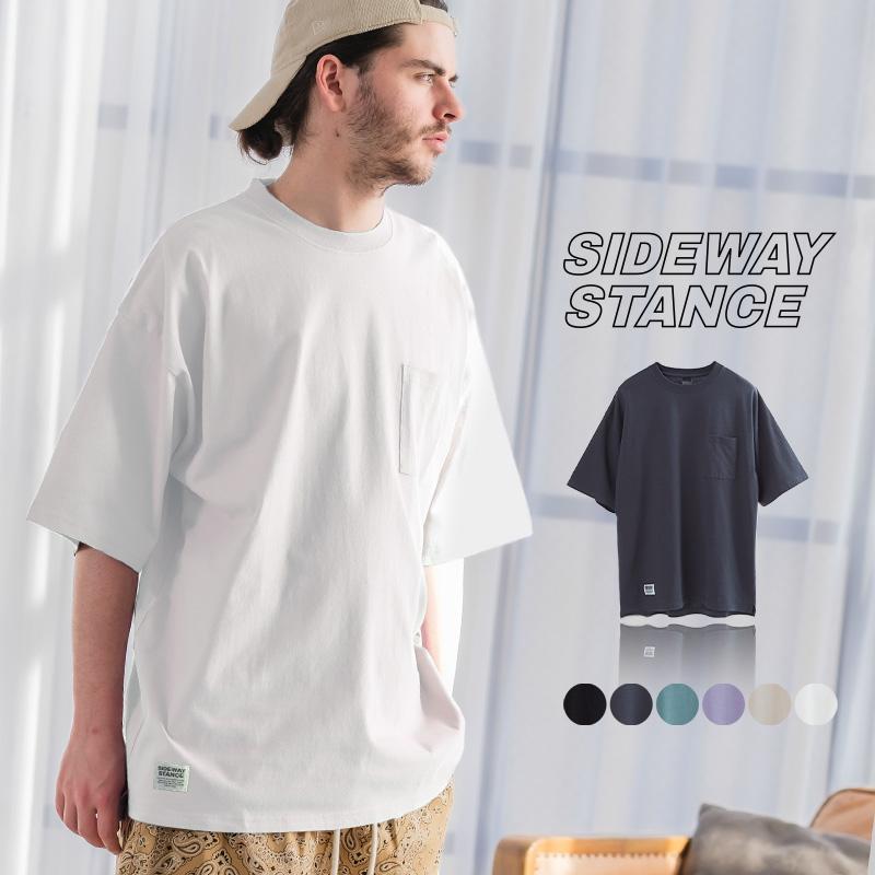 SIDEWAY STANCE ピスネーム ビッグシルエット ポケットTシャツ