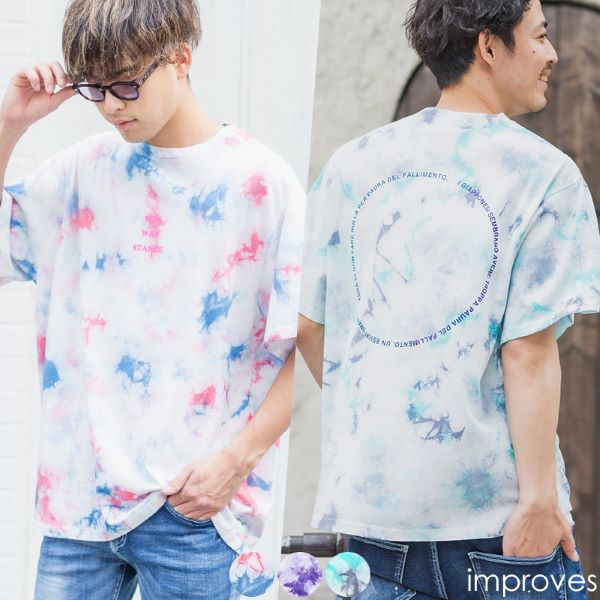 タイダイプリントTシャツ